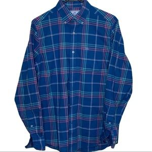 Blue plaid button down by Southern Tide